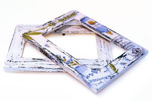 Декупаж рамки для фотографий в стиле Шебби Шик. Мастер-класс с фото