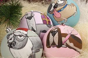 Роспись новогодних ёлочных шаров
