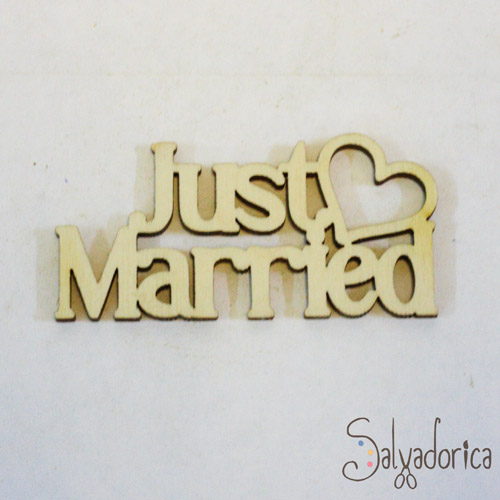 "Слова ""Just Married"" №2 450м"