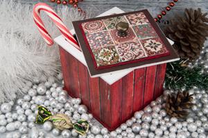 Декупаж новогоднего короба для сладостей
