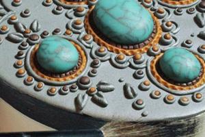 Декор шкатулки полимерной глиной