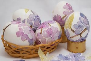 Декупаж пасхальных яиц на яичном белке. Мастер-класс