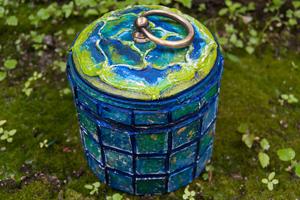 Сахарница в стиле фэнтези или имитация декоративной мозаики своими руками