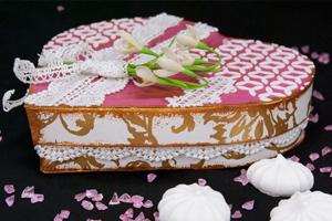 Упаковка для подарка своими руками. Коробка в форме сердца.