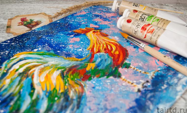 Акриловые краски как рисовать