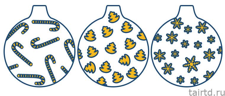 Декупаж новогодних шаров: способы, идеи и схемы декора елочных шаров