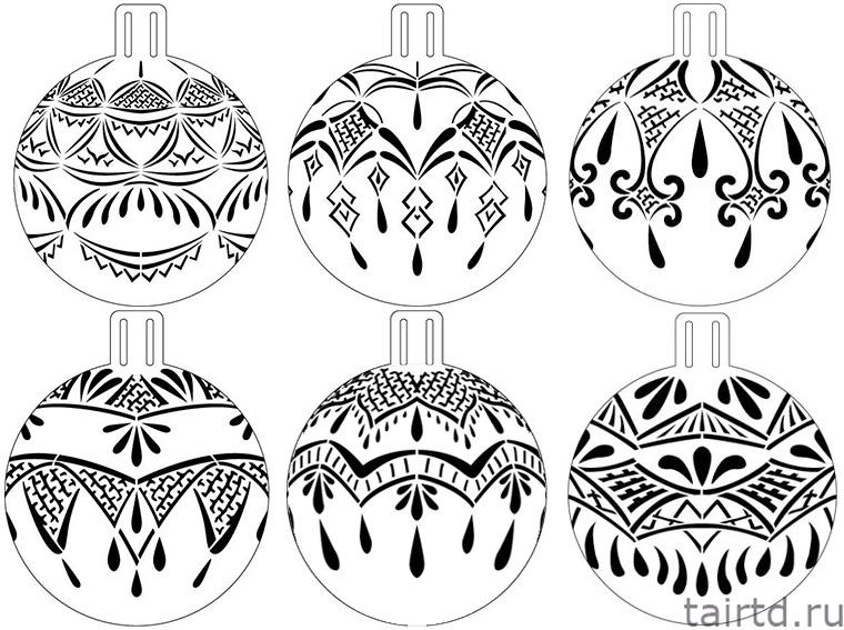 Точечная роспись новогодних шаров