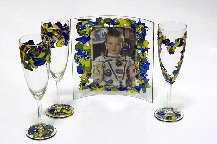 Акриловые краски по стеклу и керамике. Роспись бокалов.