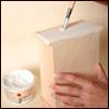 Имитация мрамора и состаренной позолоченной чеканки.