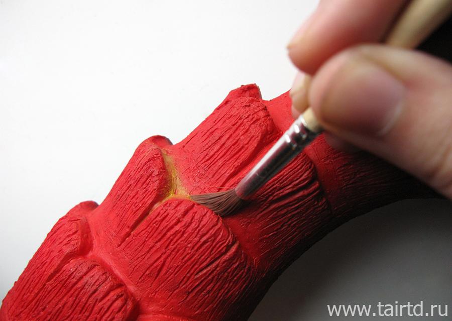 Имитация лавы акриловыми красками. Схема покраски.