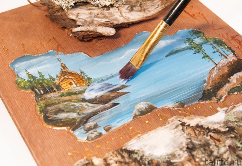 Роспись по дереву. Сувенир своими руками.