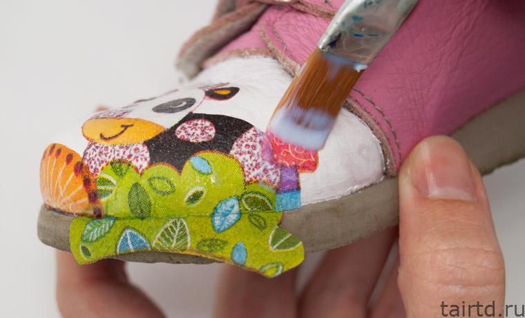 Реставрация детской обуви своими руками декупаж 68
