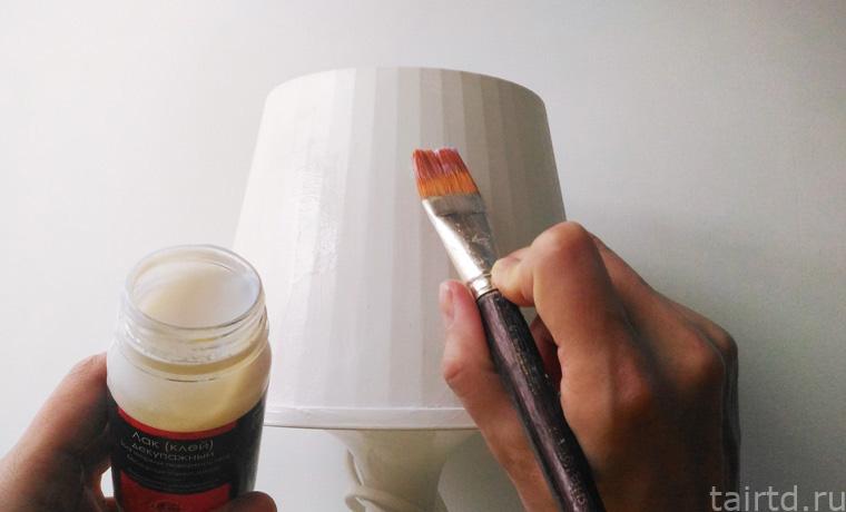 Декупаж настольной лампы