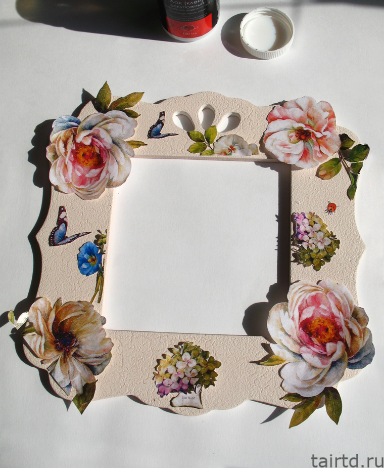 Декупаж зеркала в винтажном стиле