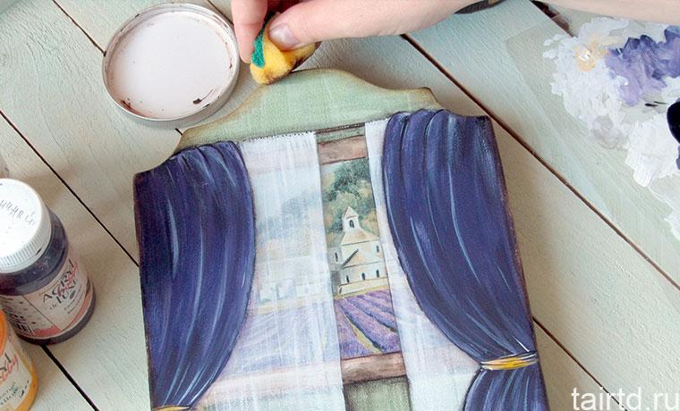 Рисуем занавеску акрилом