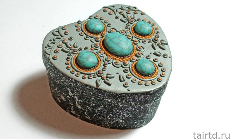 Шкатулка из полимерной глины мастер класс как сделать #1