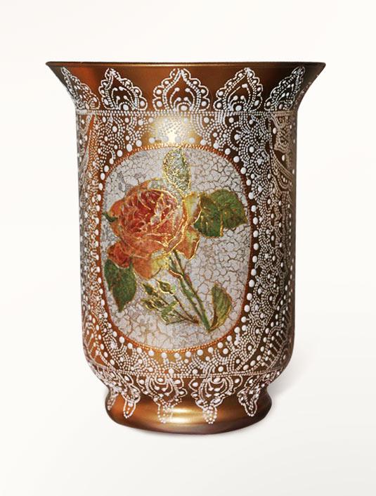 Декорирование вазы. Точечная роспись.