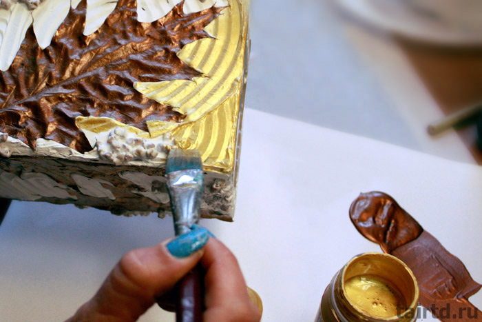 Как покрасить лепнину, рельеф, фактуру